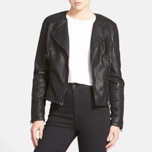 • TOPSHOP • vegan leather moto jacket
